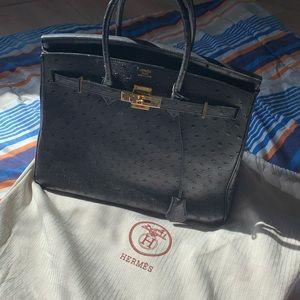Hermes Ostrich Skin Birkin Bag